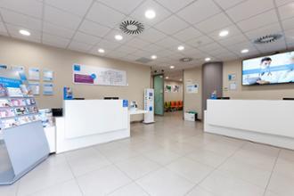 Recepción del centro médico La Buhaira