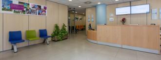 Recepción en el centro médico La Buhaira