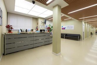 Recepción del centro médico Reina Victoria