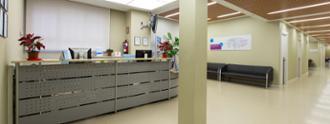 Recepción en el centro médico Reina Victoria