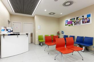 Sala de espera en el centro médico La Buhaira