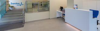 Recepción del centro médico A Coruña