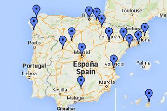 Mapa Clínicas Dentales Millenium en España