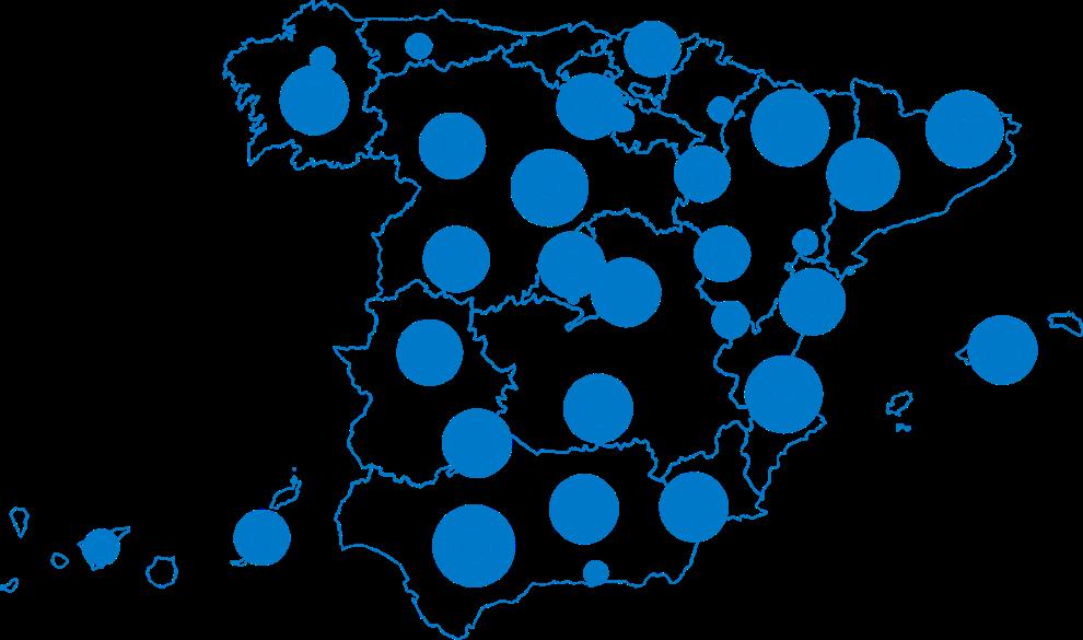 Mapa de Centros especializados