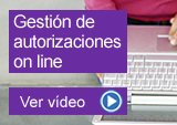 Gestión de autorizaciones on line
