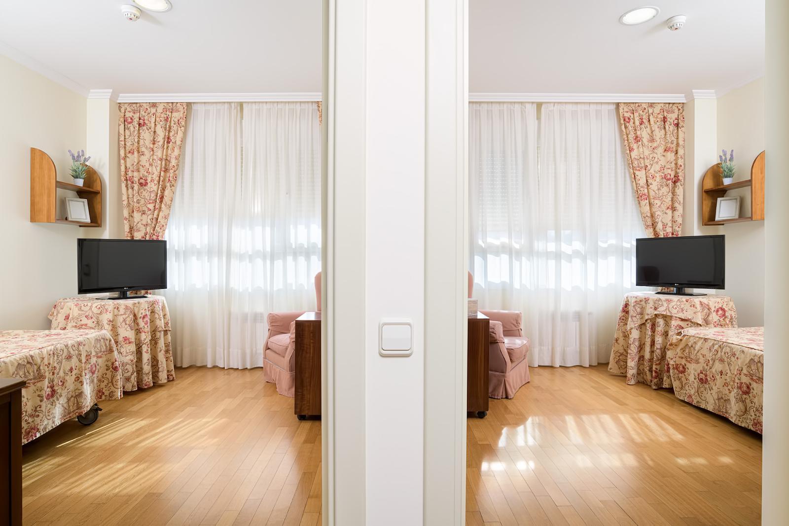 habitacion doble en residencia de mayores