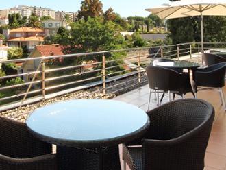 Vitsa de terraza de la residencia de mayores Sanitas Vigo